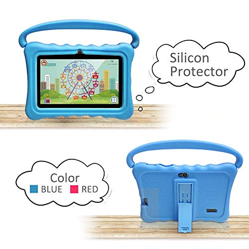 UJoyFeel Tablet Case for Kids 7 Inch Kids Tablet Cases for Shock Proof Protective with Portable Convertible Handle Light Weight (Blue)