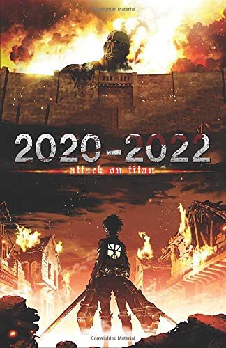 """2020 - 2022 Attack on Titan Journal Planner Calendar: For Teens, Weebs, Anime Fans (5.5"""" x 8.5"""")"""