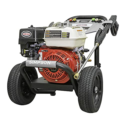 SIMPSON 61014 3500 PSI at 2.5 GPM Honda GX200 with AAA AX300 Axial Cam Pump Cold Water Professional Gas Pressure Washer