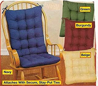 Generic 2PC. PADDED ROCKING CHAIR CUSHION SET - HUNTER GREEN