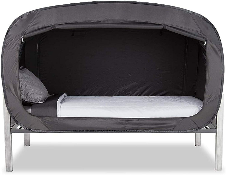 HEAlesd Privacy Pop Bed Tent  BLACK,190x90x100CM,Black