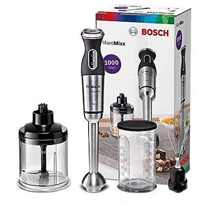 Bosch-MSM89160-MaxoMixx-Stabmixer-Set-Edelstahl-Mixfu-Zerkleinerer-Schneebesen-Mix-Messbecher-4-Klingen-Messer-12-Geschwindigkeitsstufen-Turbostufe-1000-Watt