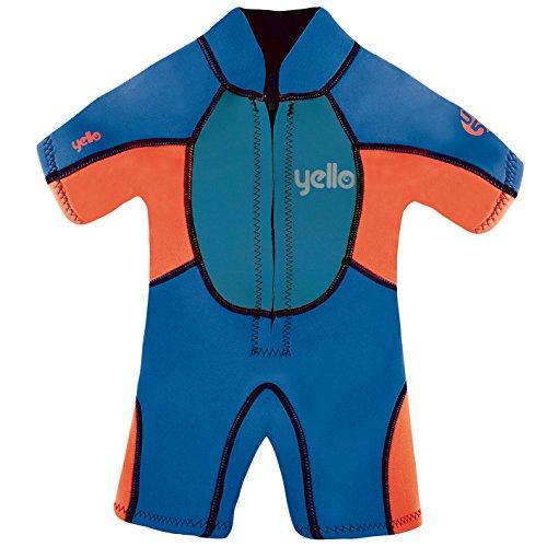 Yello Boys 'Acolchado bebé Traje UPF 50Plus Wet Suit, Niños, Color Azul, tamaño 4 años