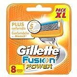 Gillette Fusion Power Set de 8 Lames de Rasoir pour Homme