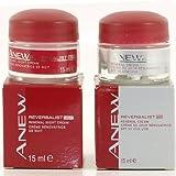 Avon Anew Reversalist 40+ moderada signos de Ageing- renovación día y noche crema 15ml tarro de cada