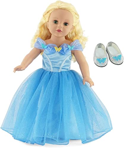Fits 18 American Girl Dolls   Fabulous Cinderella Inspirot Ball Gown   18 Inch Doll Dress Clothes Outfit by Emily Rosa Doll Clothes