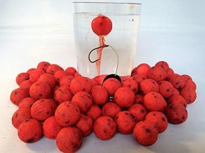 Devour baits Strawberry Carp Boilies POP UPS - 25 x 14mm Strawberry Ooze Pop up Boilie Carp fishing from Devour baits