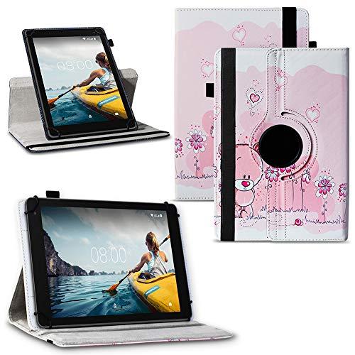 NAUC Tablet Hülle Medion Lifetab P Serie 10 10.1 Zoll Tasche Schutzhülle 360° Drehbar, Tablet:Medion Lifetab P10603