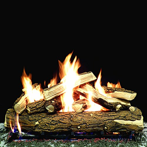 Best Review Of PayandPack Myard Deluxe 36 inches Country Split Fire Gas Logs (LOGS ONLY) for Natura...
