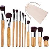 Ububiko Set de brochas de Maquillaje Profesional Pinceles de Maquillaje de bambú Premium Synthetic Foundation Brush Blending Face Powder Blush Concealers Kit de Pinceles