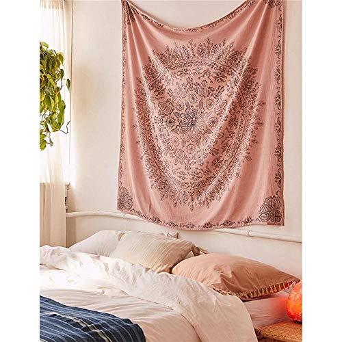 Boho decoración tapiz de pared macramé colgante de pared alfombra floral mandala tapices de tela de pared dormitorio cabecera playa mantón 150x200 cm