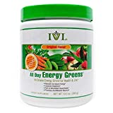 IVL Hi-Octane All Day Healthy Energy Greens Powder, 30 Servings per Canister, Original Flavor