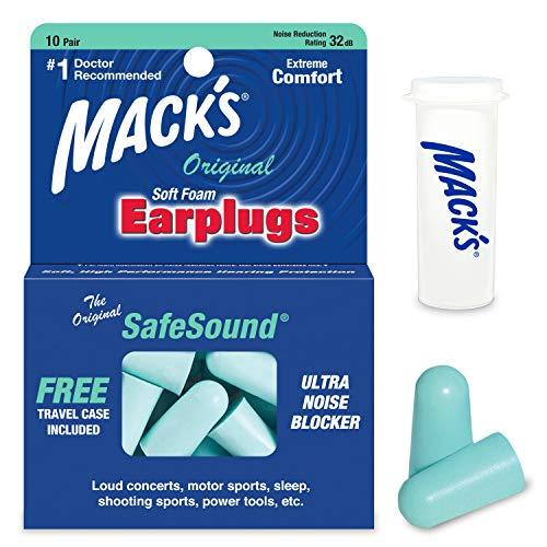 Mack's Unisex's Original Ear Plugs (10 Pair) -Mint Green, (1 Pack)