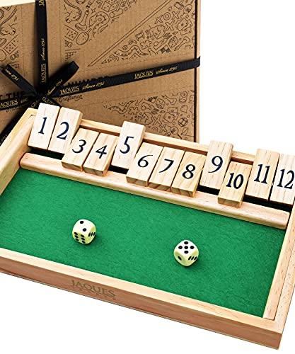 Jaques von London Shut the Box Spiel   Qualität holz spiele brettspiele   12 Ziffern   Brettspiele Familienspiele   Seit 1795