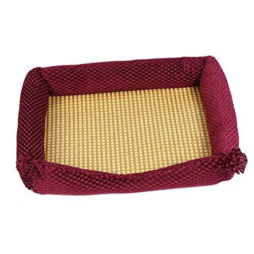 YF El Color Rojo del Vino del Color del Animal Doméstico Cama del Animal Doméstico Cuadrado Suministros para Mascotas 43 * 32 Cm