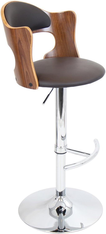 Cello Barstool in Walnut Finish