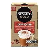 Nescafé Cappuccino Preparato Solubile in Polvere con Caffè e Latte, 10 Buste (10 Tazze)