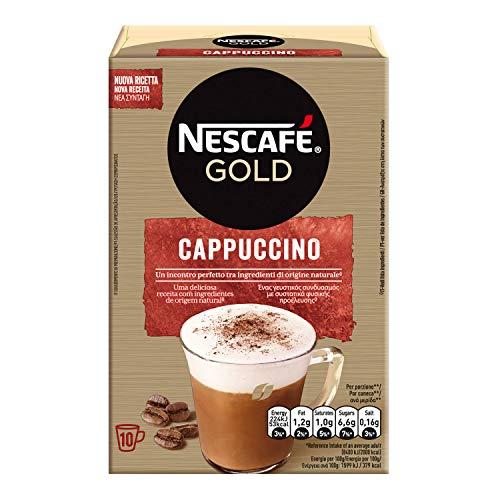 NESCAFÉ Gold Cappuccino Preparato Solubile per Cappuccino, Astuccio, 10 Bustine, 140 g