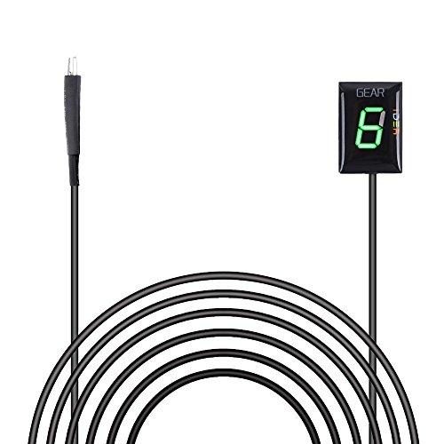 IDEA Wasserdicht 6 Speed LED Digital Anzeige Grün LED Display Ganganzeige Motorrad Schalthebel Sensor für Honda Plug & play
