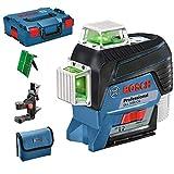 Bosch Professional GLL 3-80 CG  nivel láser verde, conexión Bluetooth, soporte, gama de trabajo: hasta 30m, en L-BOXX