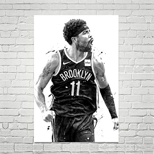 Kyrie Irving Art Print, Kyrie Irving Poster, Brooklyn Nets Poster, Basketball Wall Art, Basketball Decor, NBA Poster, Watercolor Sports Print, Man Cave Gifts