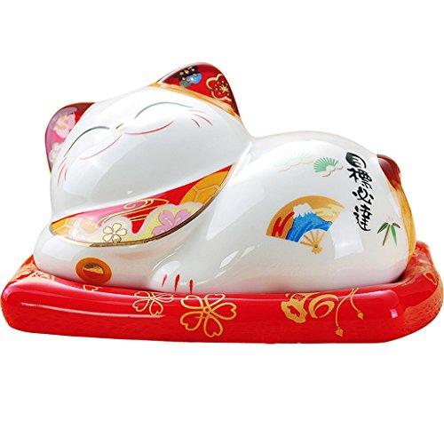 GLJJQMY Kann Rauchen Glück Katze Aschenbecher Keramik Kreative Persönlichkeit Hause Bedeckt Wohnzimmer Aschenbecher