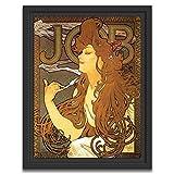 Printed Paintings Caisse américaine (40x55cm): Alfons Mucha - Job Cigarettes