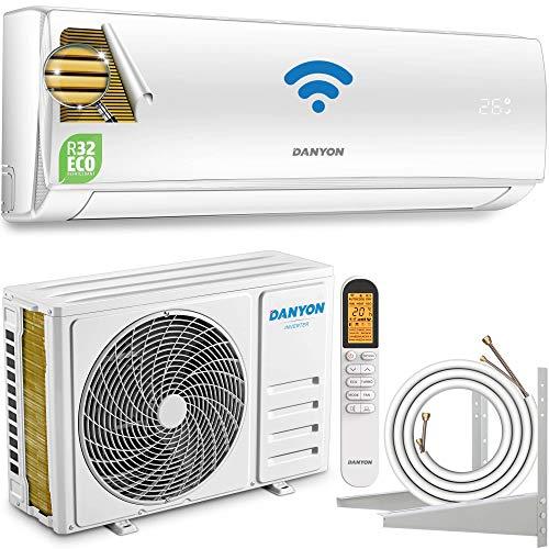 Danyon Premium Klimaanlage Splitgerät – XA61, für 55 qm, 12000 BTU, 3,4 kW, Titangold, Smart Home, W-LAN, Alexa, Google Home, Timer, leise, nur 50 dB, Split-Klimaanlage, für 130m3, EEK A++