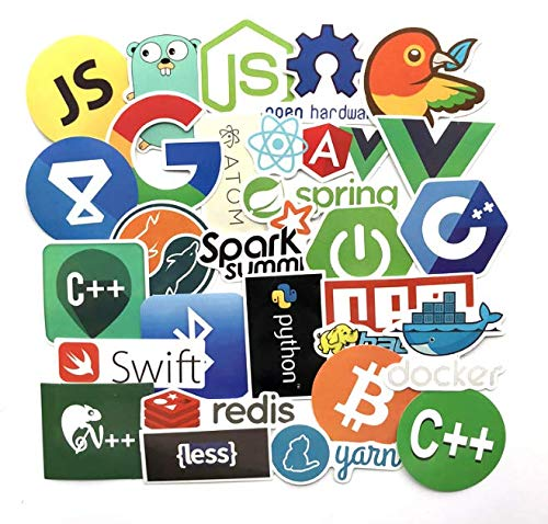 Language Software Programming Stickers Programmer Hacker Suitcase Laptop Graffiti Waterproof Stickers 50 Sheets