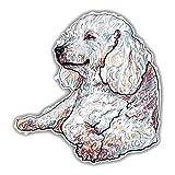 WZJH 1 5cmx15.6cm Sketch de Perro Feliz Estilo Estilo CLORURO DE...