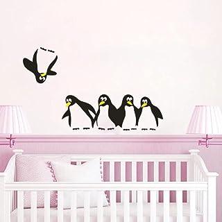 Cartoon Funny Penguins Wall Sticker Kids Children's Room Fridge Decoration Poster Mural Art Decals DIY Stickers for Home D...