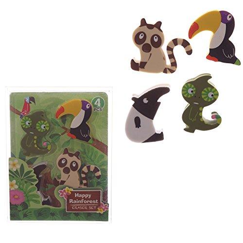 Ensemble de gomme Rainforest Design enfants