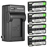 Kastar 4-Pack SB-L160 Battery and AC Wall Charger Replacement for Samsung SB-L110A SBL110A, SB-L160 SBL160, SB-L320 SBL320, SB-L480 SBL480 Battery, Medion MD9014 VP-SCD55 VPL600 VPL700 VPL800 VPL900