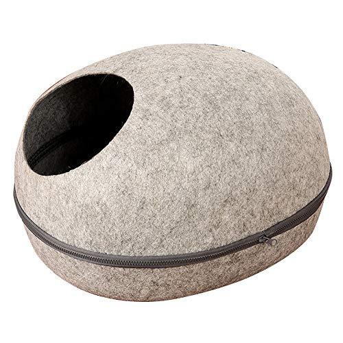 QWERTY Donut hundebett Kuschelh Hle Für Katzen,Kissen Katzenbett , Entfernbar Katzen Haus Hundehöhle Katzenhöhle Pet Nest Hundebett Katzenbett Haustier Schlafsack (Color : A, Size : 52 * 44 * 30)