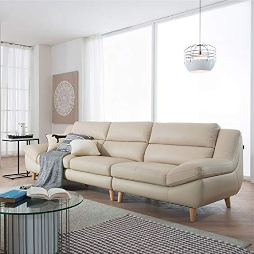 Leather Sofa Small Family Head Layer Green Leather Corner Japanese Style Leather Combing Living Room Three People Nordic Leather Modern