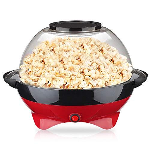ZRXRY Popcornmaschine, elektrische Heißöl Rühren Popcorn Popper Maschine mit großen Deckel und Antihaftbeschichtung, Fast Popcornmaschine