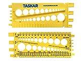 Taskar Tuerca, tornillo y calibre de medición de tamaño y paso de rosca...
