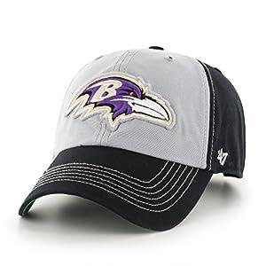 NFL Baltimore Ravens '47 McGraw Clean Up Adjustable Hat, One Size Fits Most, Black