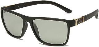 X&L - Gafas de Sol polarizadas Hombres Que conducen Visera para Hombres Gafas de Sol TR90 Hombres piernas de Fibra de Carbono UV400-BS Negro