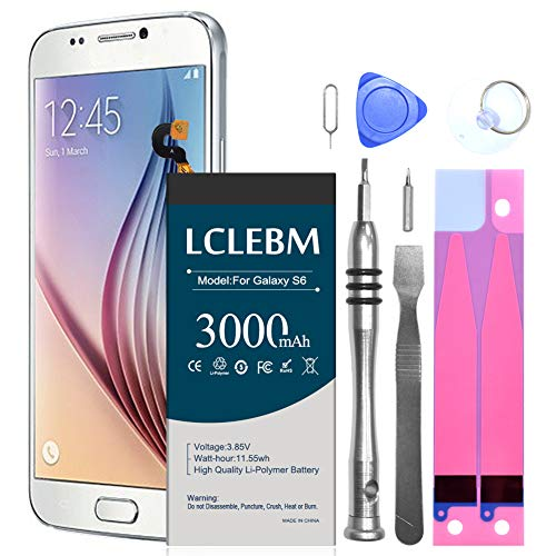 Galaxy S6 Battery Replacement Kit, [Upgraded] 3000mAh Li-Polymer EB-BG920ABE Replacement Battery for Samsung Galaxy S6 All G920 Model with Replacement Tools and Instruction -18 Months Warr