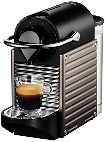 Krups YY1201FD Nespresso Pixie Espressoautomat, Titanium (Französische Version)