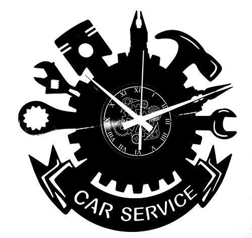 Vinyl Wanduhr Vintage Handgemache Schallplatten-Design Dekor Karosseriebau Car Service Auto Autowerkstatt