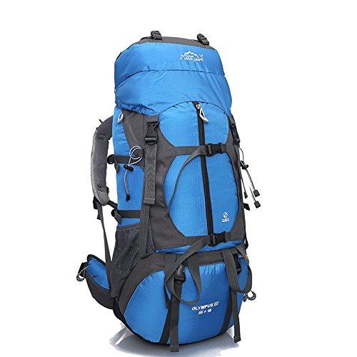 Professionnel en plein air, randonnée sac à dos voyage sac 80L litres capacité sacs à dos sac à dos team , blue
