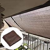 GZHENH オーニングシェード遮光ネッ 、フェンス プライバシー 画面 アンチUV 通気性 老化防止 金属の穴 パティオ 車 日焼け止め ポリエチレン 、23サイズ (Color : Brown, Size : 1.5x2m)