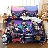 Movie Descendants 3 Bedding Set Twin 3D Printed Soft Mircofiber 2 Pcs Quilt Cover Set for Kids Boys Girls Bedding