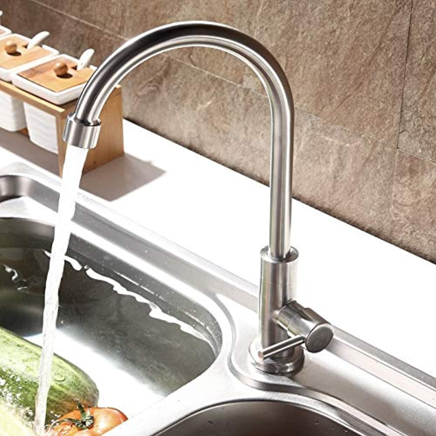 Stainless Steel Sink Faucet Kitchen Hot and Cold Home Improvement Sink redating Faucet