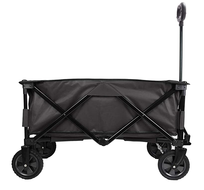 Patio Watcher Collapsible Folding Wagon Utility Wagon Cart Outdoor Garden Camping Wagon Sports Wagon Heavy Duty, Gray