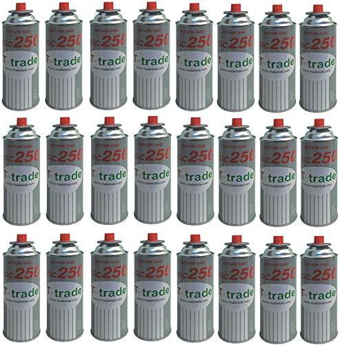 ALTIGASI 24 Stück Gaskartusche GPL 250 GR Art.KCG250 Ideal Schweißen oder Backofen, geeignet für CAMPINGAZ cp250 Brunner