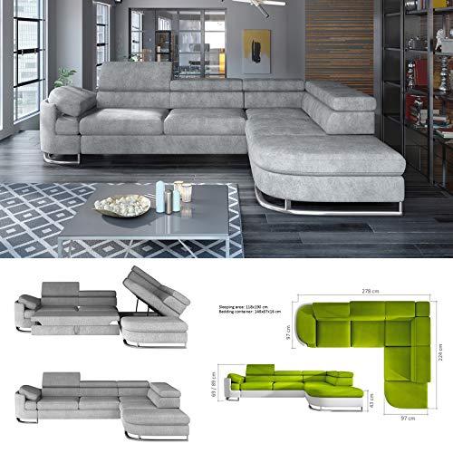 Nouveau Modèle Stock – 2015 – BMF Glace Canapé d'angle lit – imitation cuir – Bon Prix.