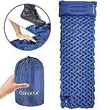 ONVAYA Strandmatte und Isomatte | Liege | Campingmatte |Schlafmatte | Luftmatratze (Isomatte - 1...